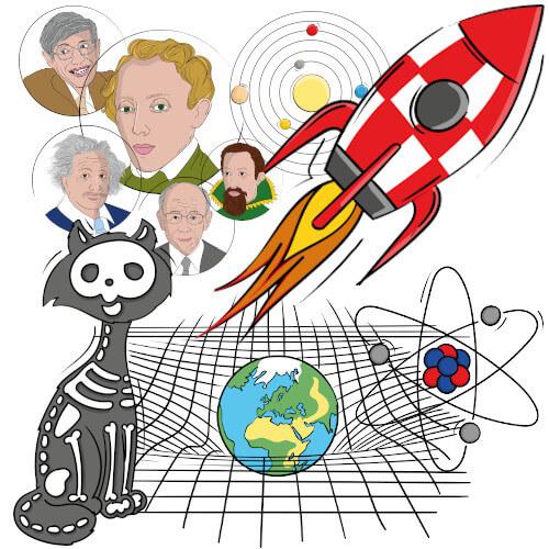 Physikspiel Illustrationen
