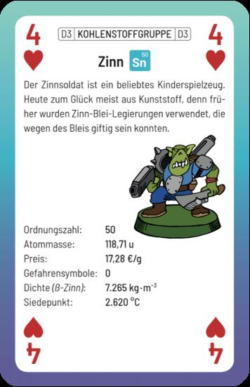 Spielkarte Jaklaro Zinn